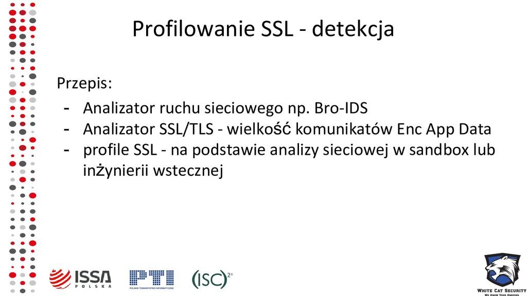 Profilowanie SSL - detekcja Przepis: - Analizat...
