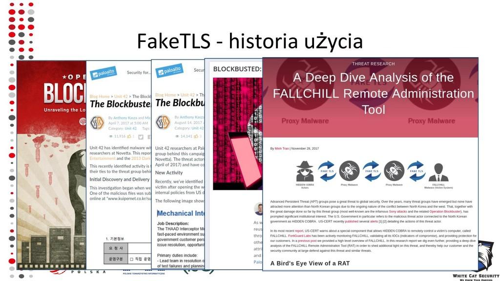 FakeTLS - historia użycia