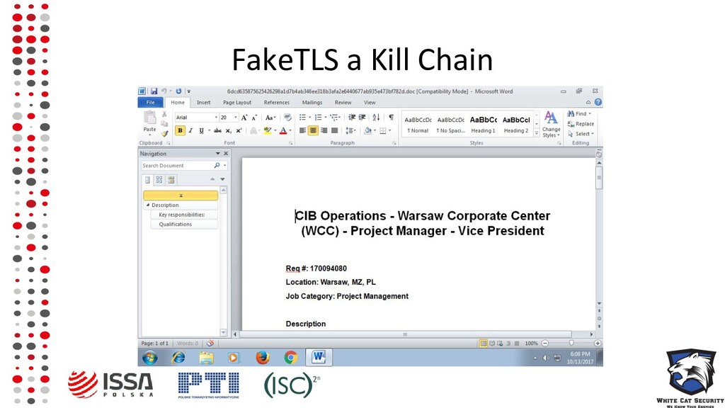 FakeTLS a Kill Chain