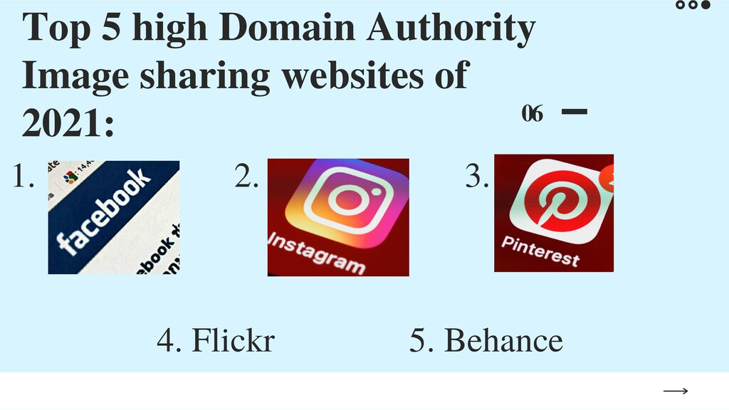 Top 5 high Domain Authority Image sharing websi...