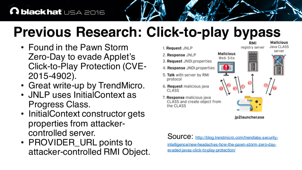 Previous Research: Click-to-play bypass • Found...