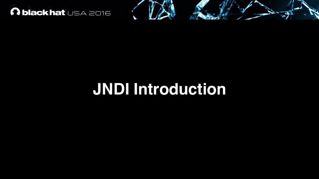 JNDI Introduction