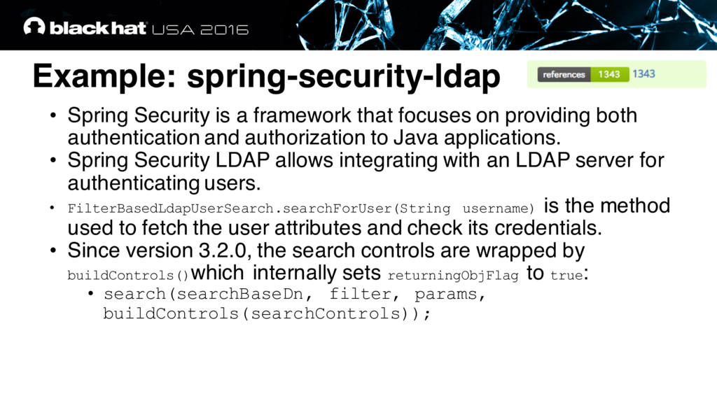 Example: spring-security-ldap • Spring Security...