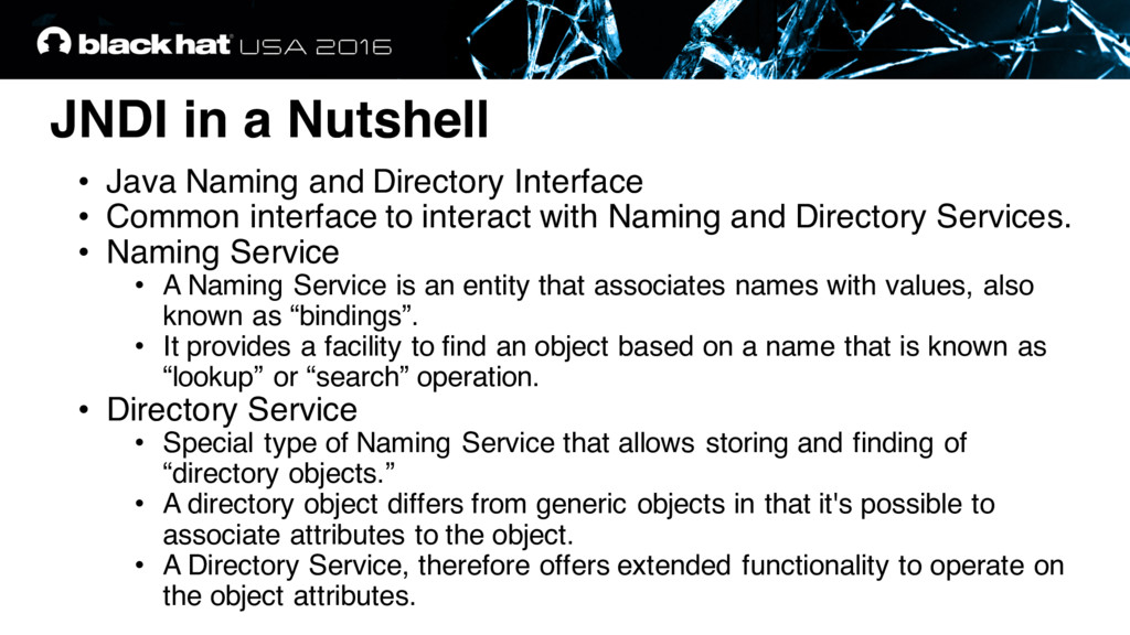 JNDI in a Nutshell • Java Naming and Directory ...