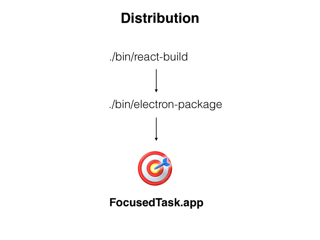 Distribution ./bin/react-build ./bin/electron-p...