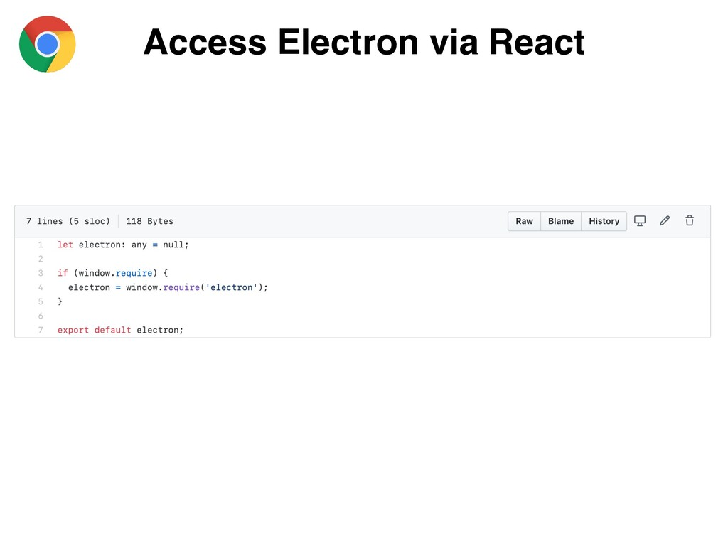 Access Electron via React