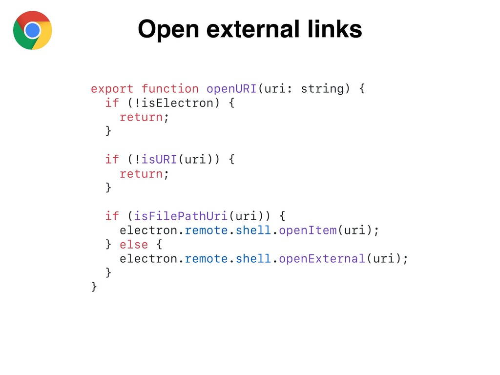 Open external links export function openURI(uri...