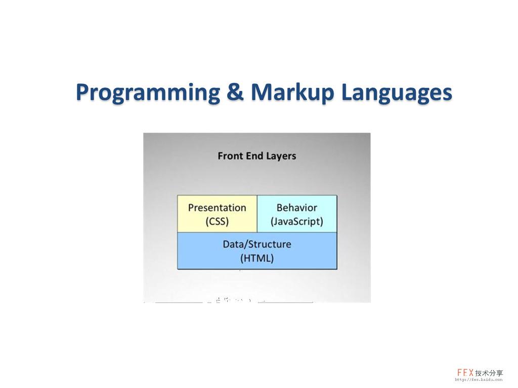 Programming & Markup Languages