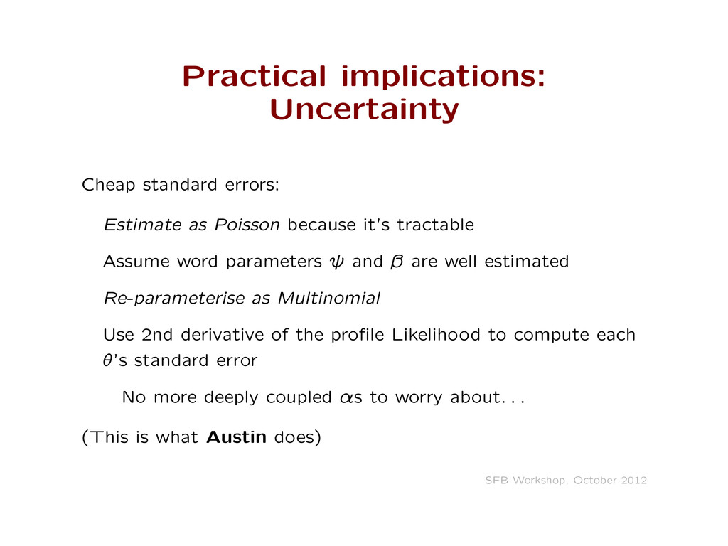 Practical implications: Uncertainty Cheap stand...