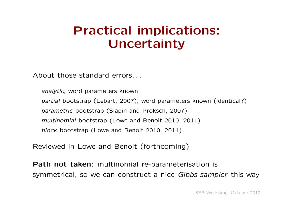 Practical implications: Uncertainty About those...