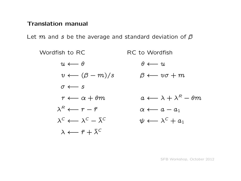 Translation manual Let m and s be the average a...
