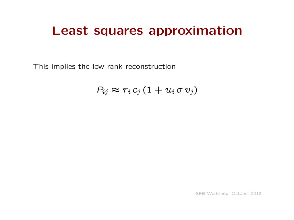 Least squares approximation This implies the lo...