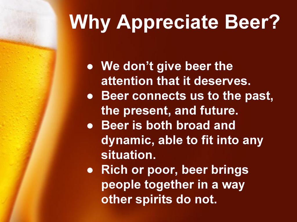 Free Powerpoint Templates ● We don't give beer ...