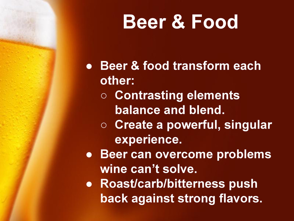 Free Powerpoint Templates Beer & Food ● Beer & ...