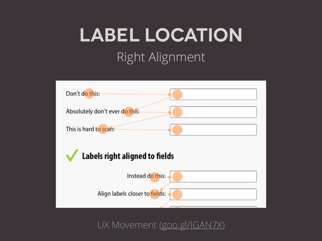 label Location Right Alignment UX Movement (goo...
