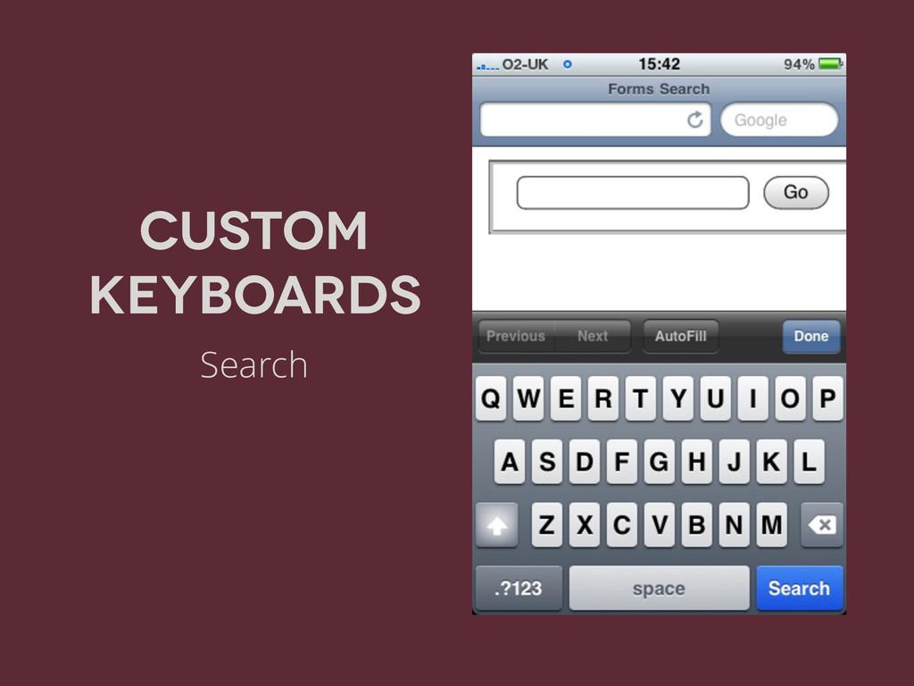 Custom Keyboards Search