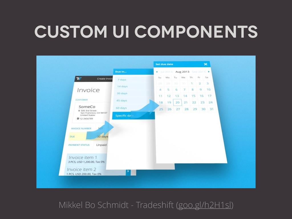Custom UI Components Mikkel Bo Schmidt - Trades...