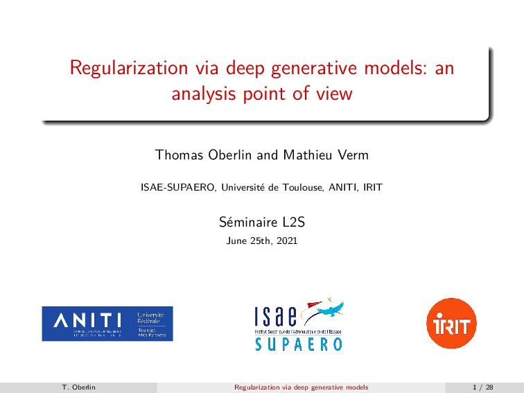 Regularization via deep generative models: an a...