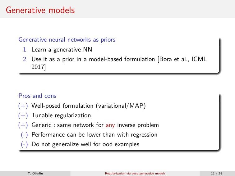 Generative models Generative neural networks as...