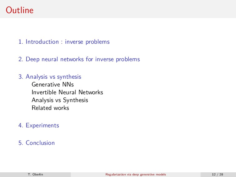 Outline 1. Introduction : inverse problems 2. D...