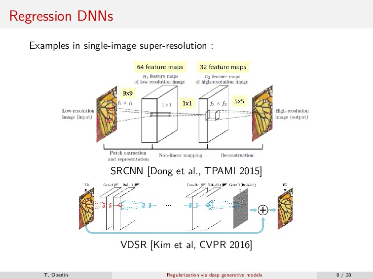 Regression DNNs Examples in single-image super-...