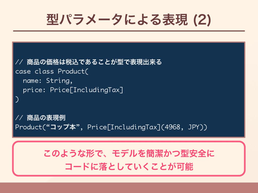 ܕύϥϝʔλʹΑΔදݱ   // ͷՁ֨੫ࠐͰ͋Δ͜ͱ͕ܕͰදݱग़དྷΔ case ...