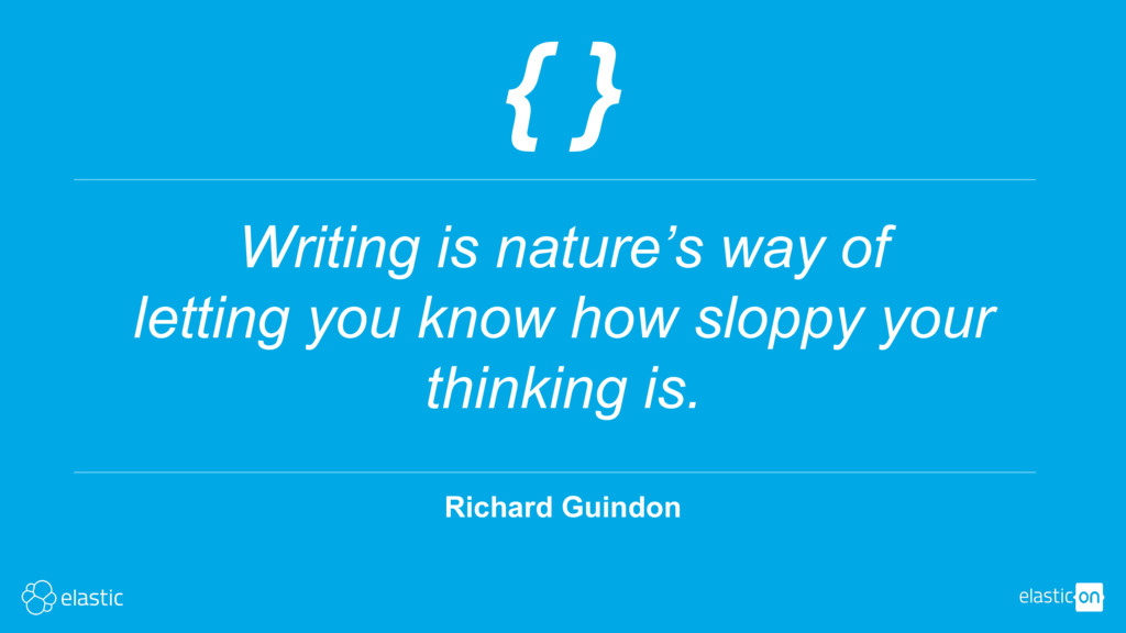 Richard Guindon { } Writing is nature's way of ...