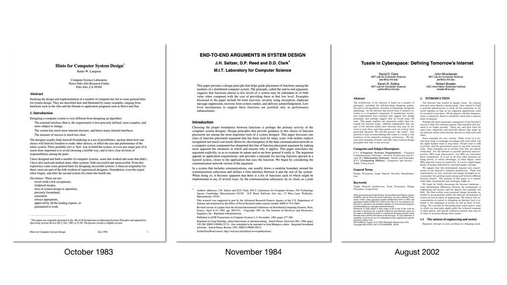 November 1984 August 2002 October 1983