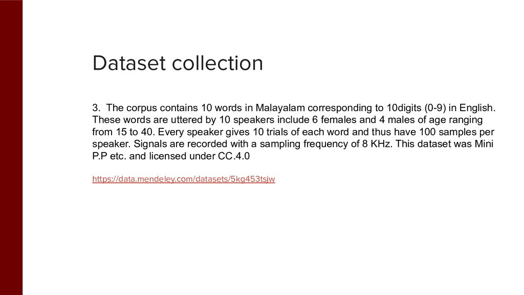 Dataset collection 3. The corpus contains 10 wo...