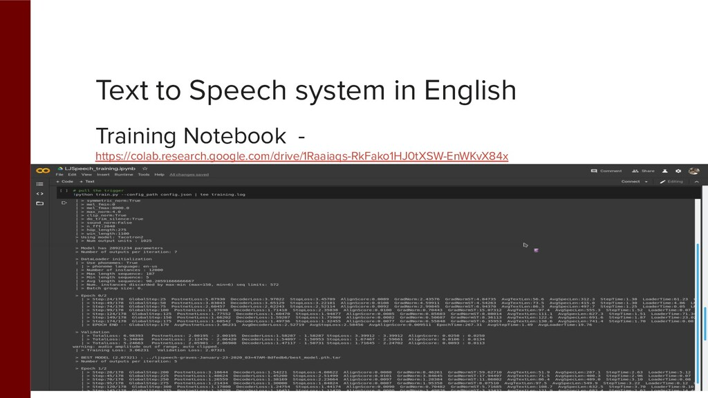 Text to Speech system in English Training Noteb...