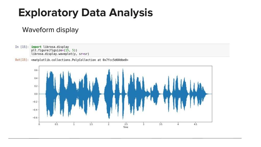 Exploratory Data Analysis Waveform display