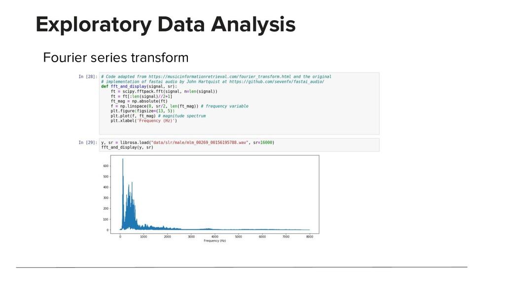 Exploratory Data Analysis Fourier series transf...