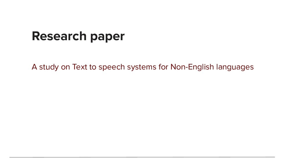 Research paper A study on Text to speech system...