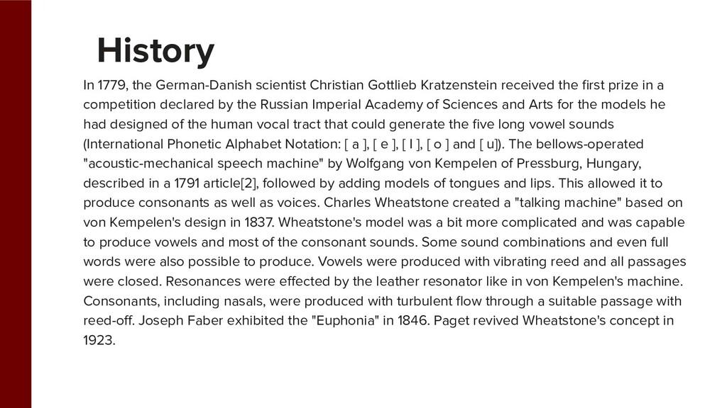 In 1779, the German-Danish scientist Christian ...