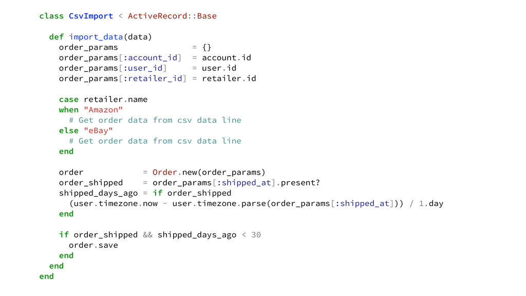 class CsvImport < ActiveRecord::Base def import...
