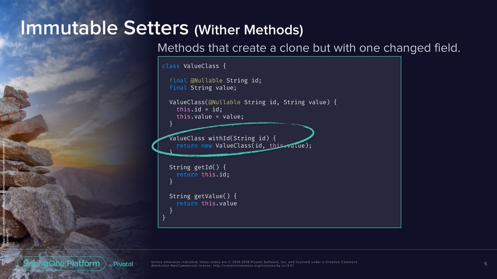 Methods that create a clone but with one change...
