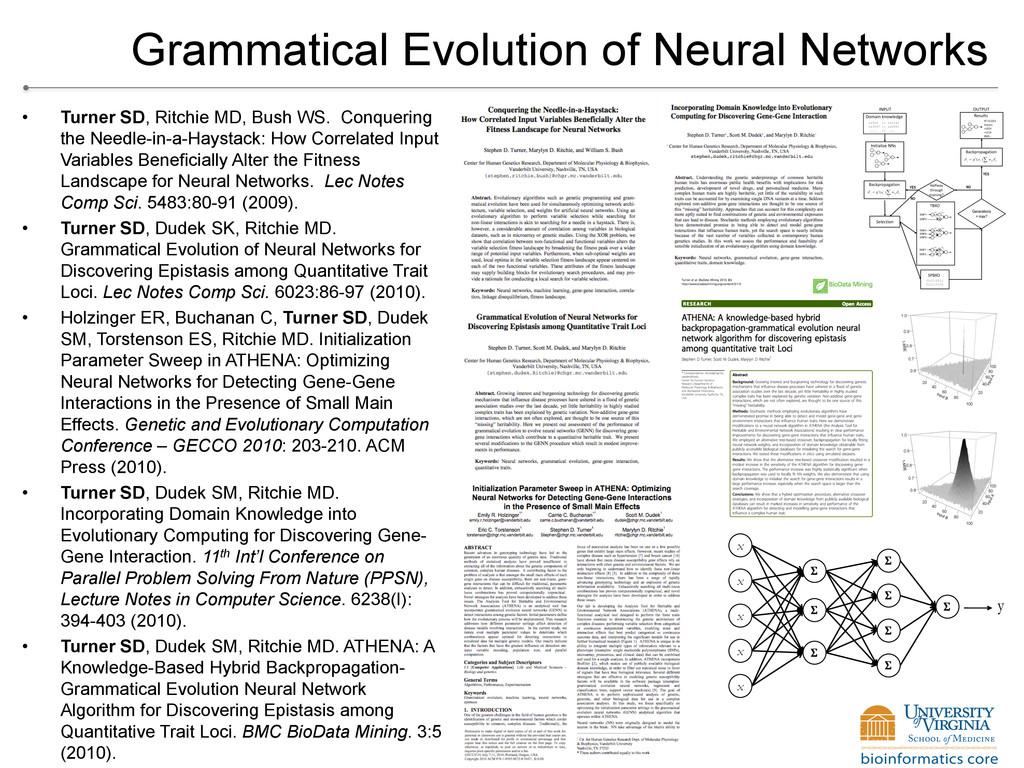 Grammatical Evolution of Neural Networks • Tur...