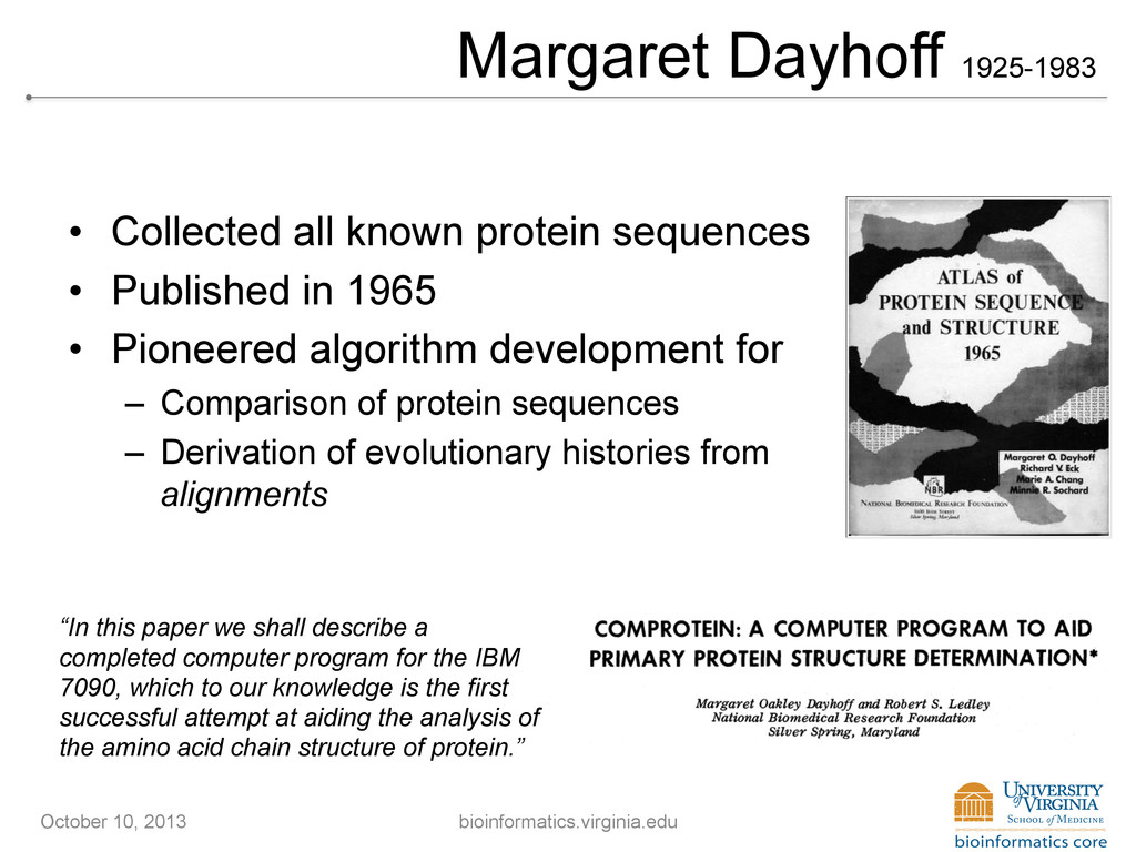 Margaret Dayhoff 1925-1983 • Collected all kno...