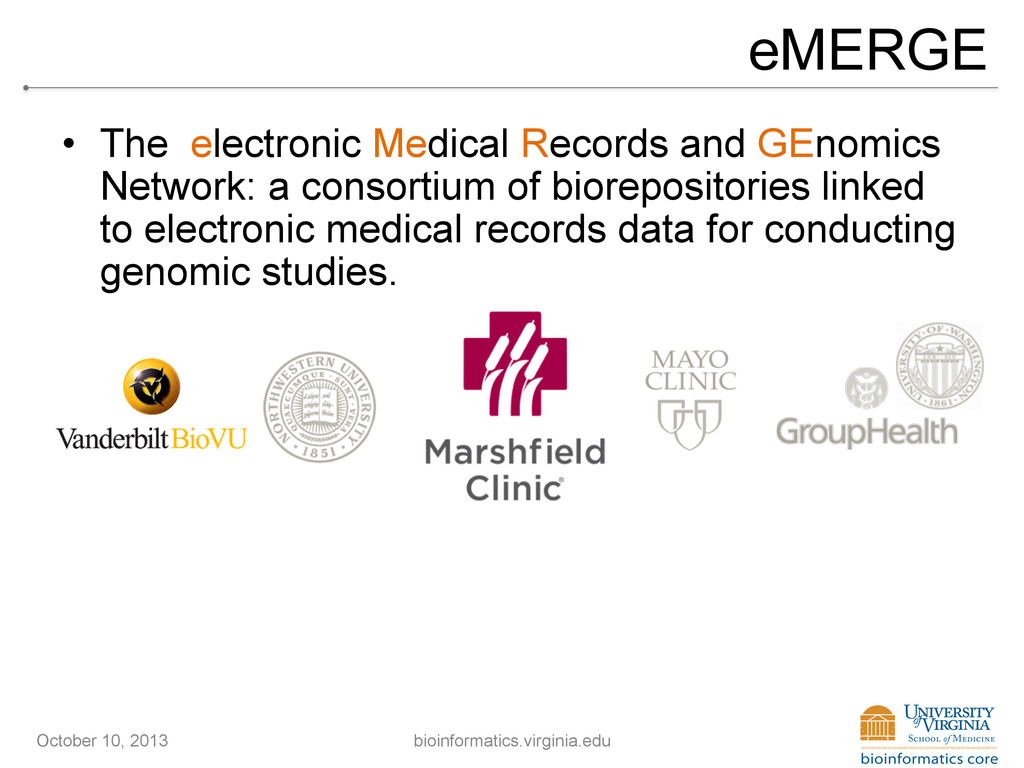 eMERGE • The electronic Medical Records and GE...