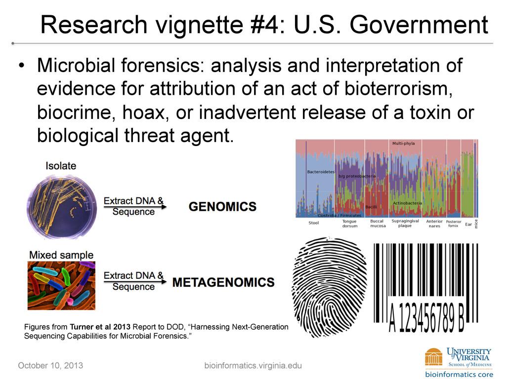 Research vignette #4: U.S. Government • Microb...