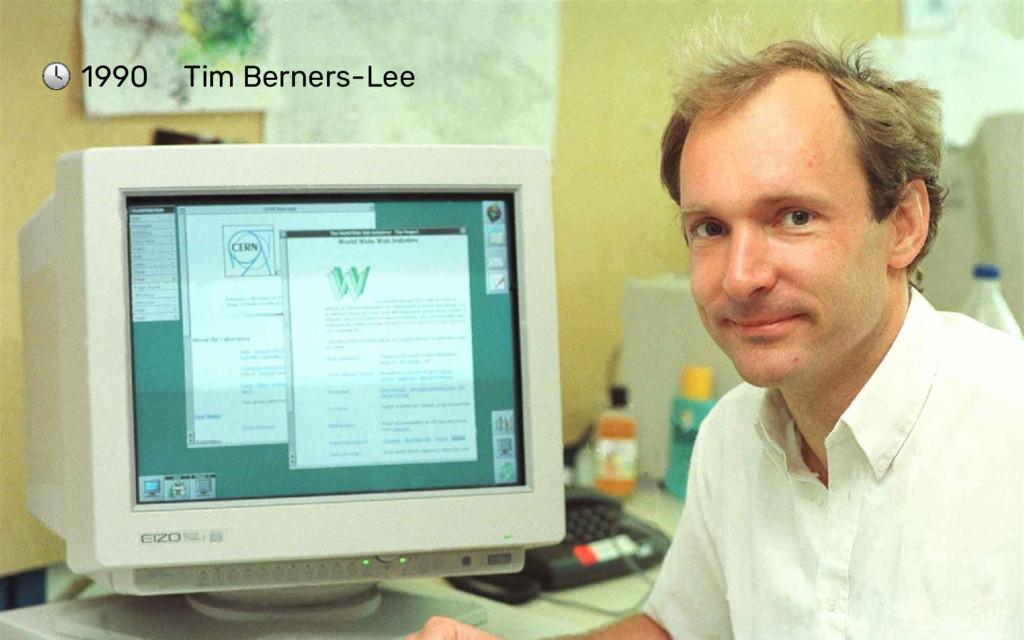 1990 Tim Berners-Lee