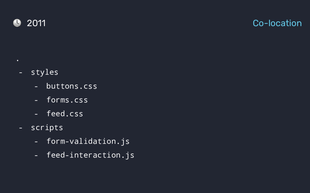 . - styles - buttons.css - forms.css - feed.css...