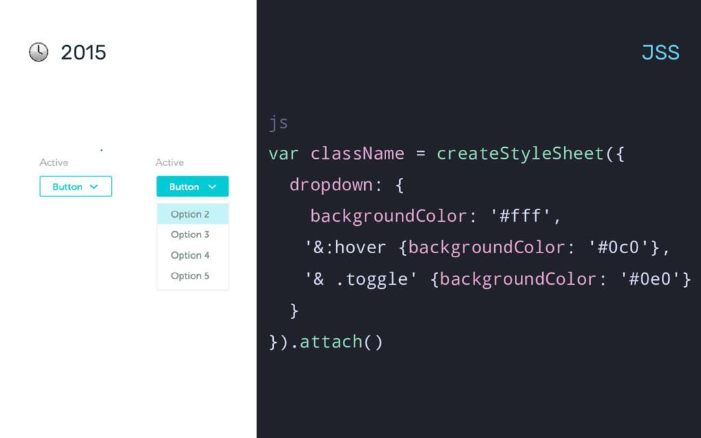 2015 JSS js var className = createStyleSheet({ ...