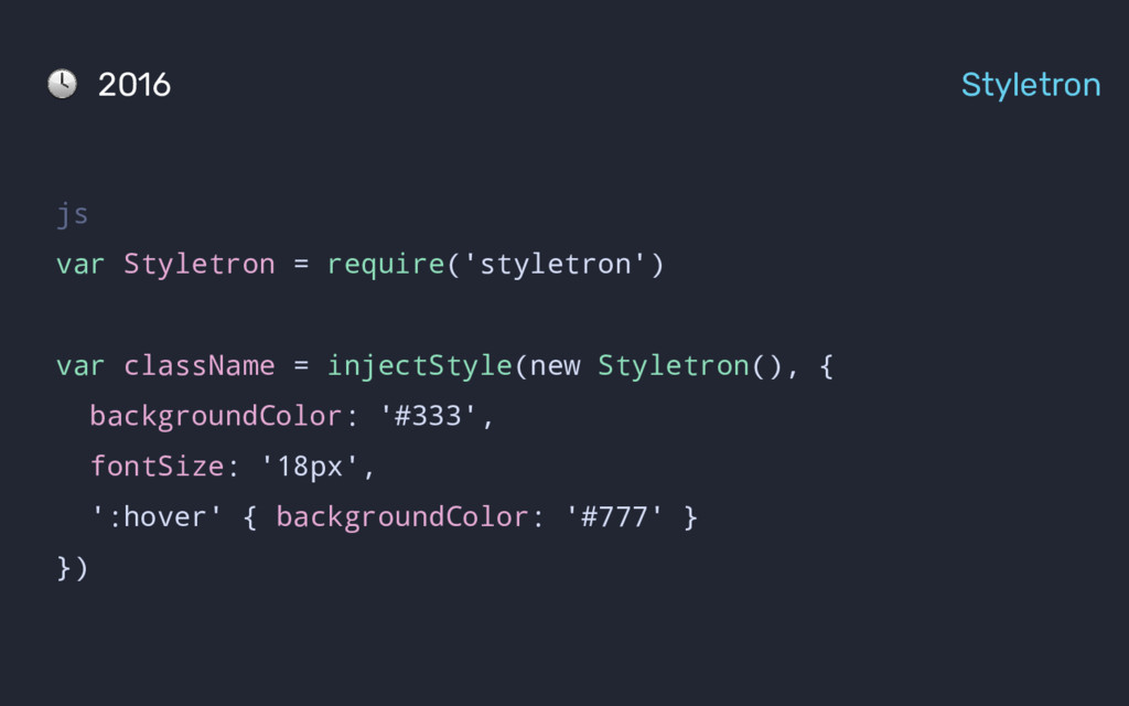 2016 Styletron js var Styletron = require('styl...