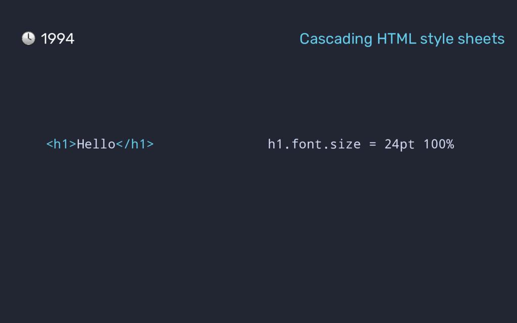 h1.font.size = 24pt 100% <h1>Hello</h1> 1994 Ca...