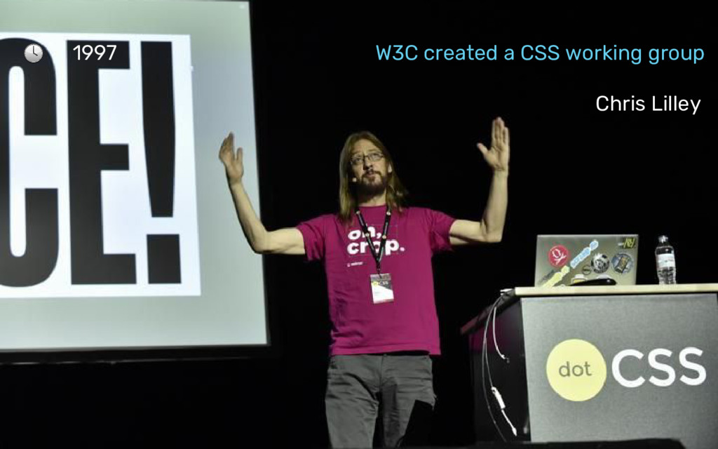 1997 W3C created a CSS working group Chris Lill...
