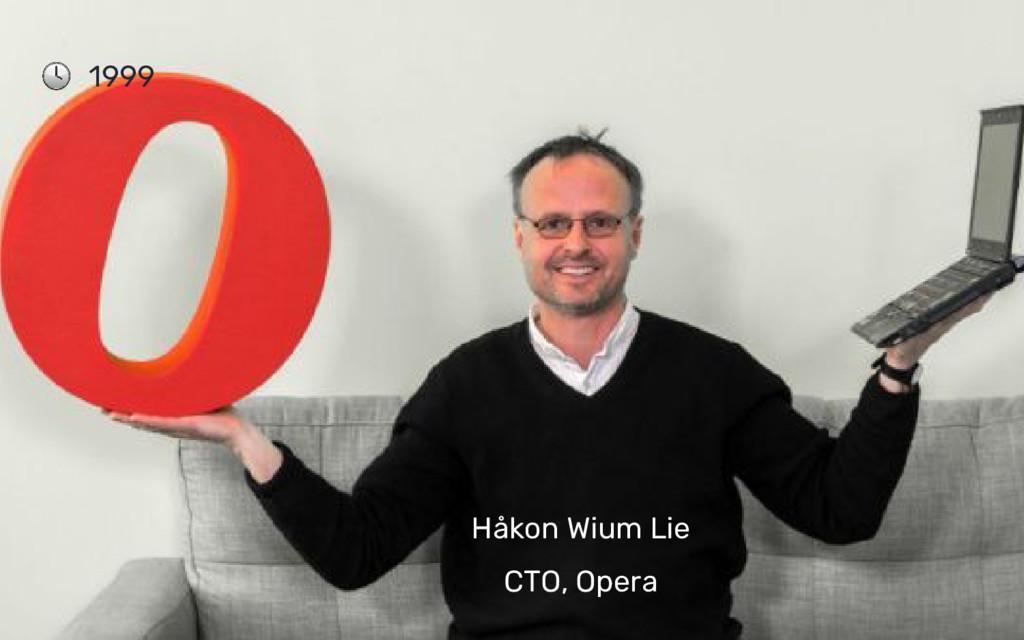 Håkon Wium Lie CTO, Opera 1999