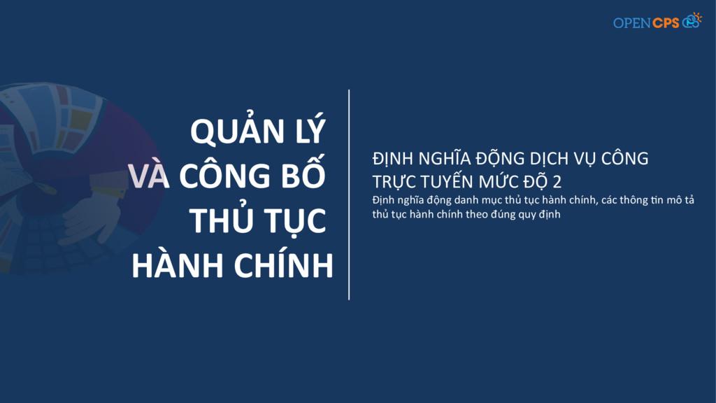 QUẢN LÝ VÀ CÔNG BỐ THỦ TỤC HÀNH CHÍNH ĐỊNH NGHĨ...