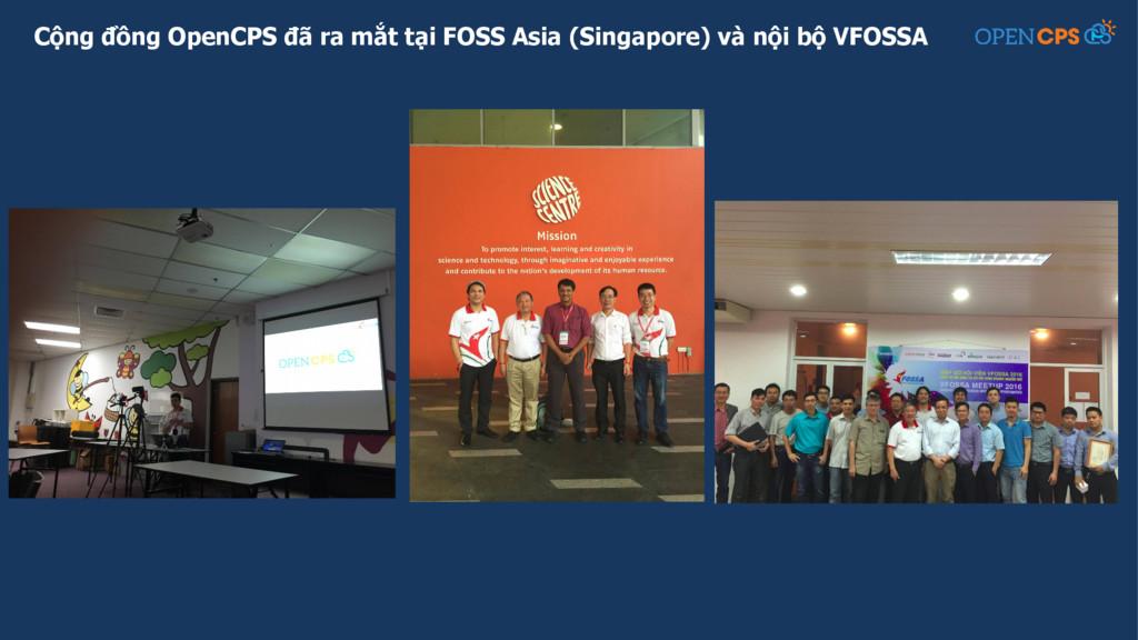 Cộng đồng OpenCPS đã ra mắt tại FOSS Asia (Sing...