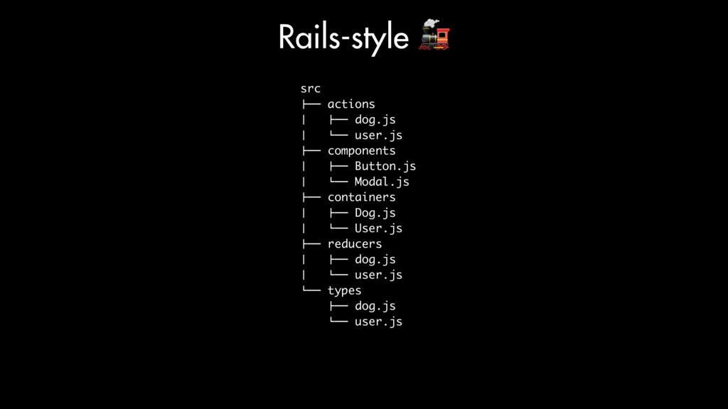 "src !"""" actions # !"""" dog.js # %"""" user.js !"""" ..."